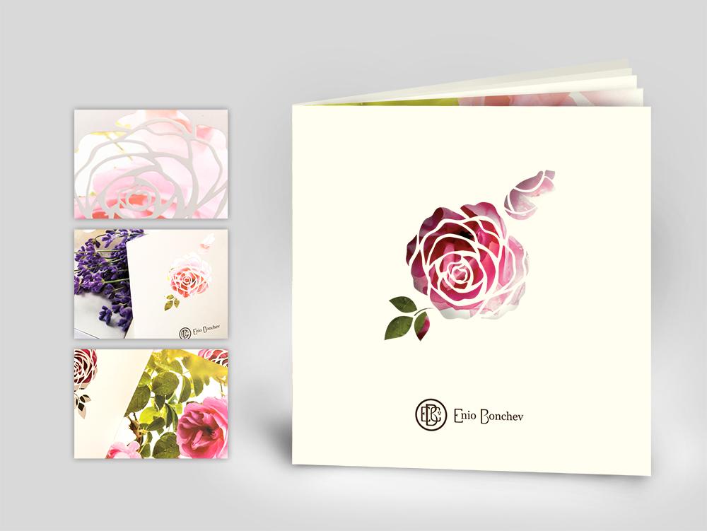 Рекламна брошура за розоварна Еньо Бончев