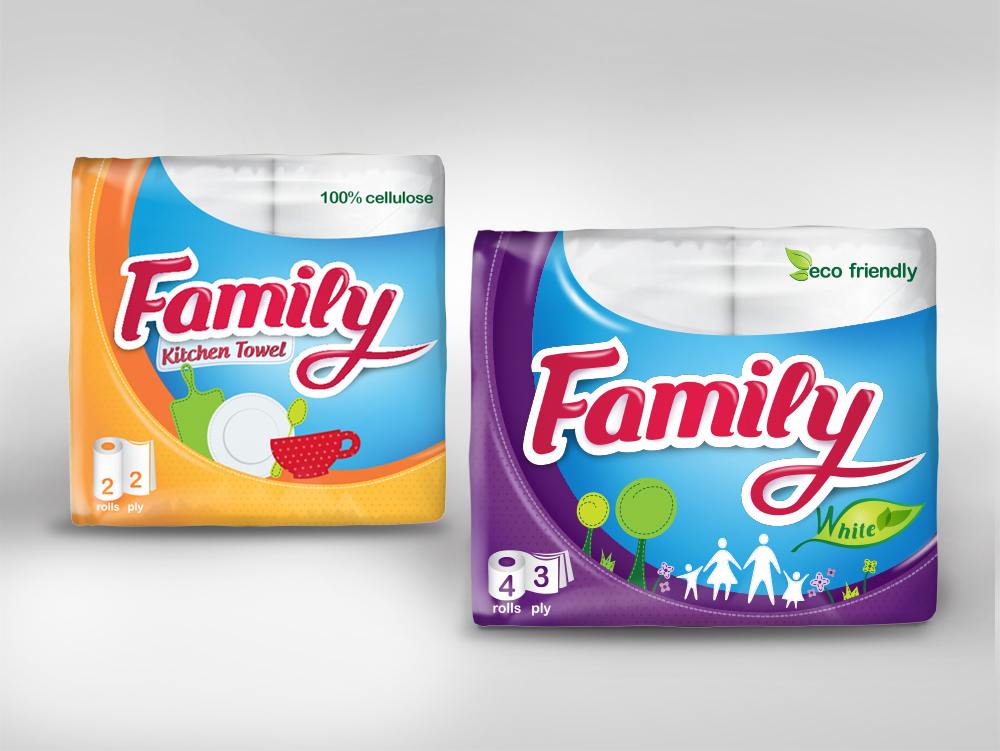 Дизайн на опаковки за домакинска и тоалетна хартия